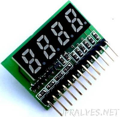 4 Digit MultiPlexed 0.33 Inch 7 Segment Common Anode Display