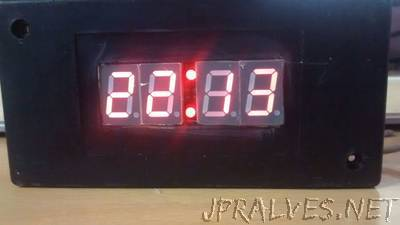 Digital Clock using one shift register