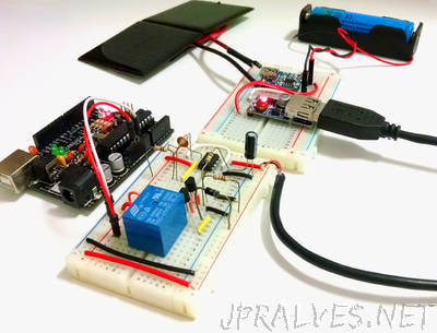 Solar Charged Battery Powered Arduino Uno