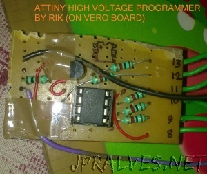 Recover bricked attiny using arduino as high voltage programmer