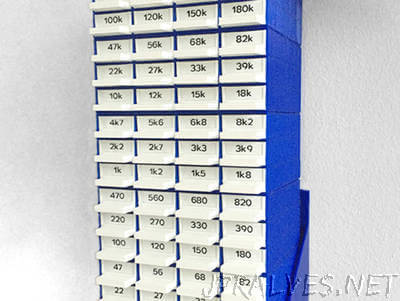 Resistor Storage / Sorter with Wall Mount