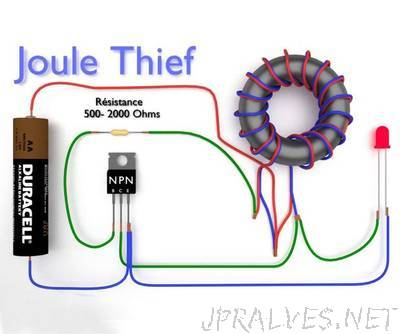How to make a joule thief - Boost Converter