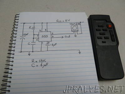 Turn any IR remote control to a wireless control ON/OFF switch