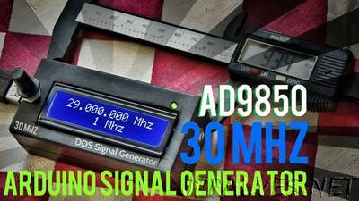 Arduino + AD9850 30MHZ DDS Signal Generator In 12$