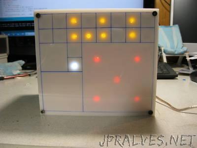 Geek Clock: FiBiNo Fibonacci Binary Arduino Clock