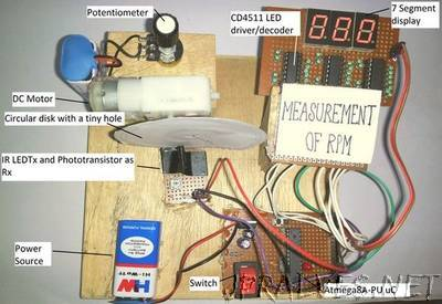 Measurement Of RPM Of DC Motor Using Arduino And IR LED