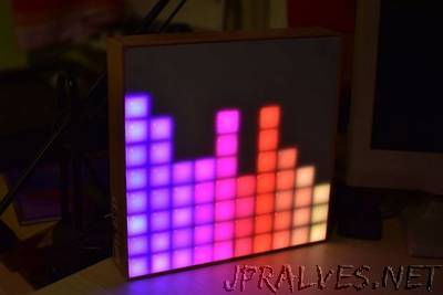 Arduino Spectrum Analyzer on a 10x10 RGB LED-Matrix