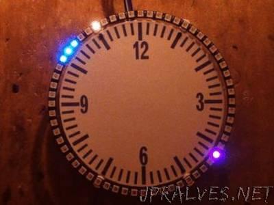 eDOTcore: Simple Neopixel ring clock