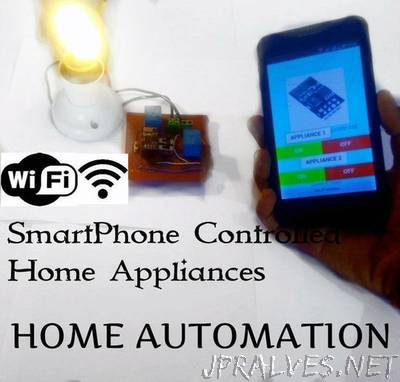 Home Automation With ESP8266 WiFi Without Using Blynk!