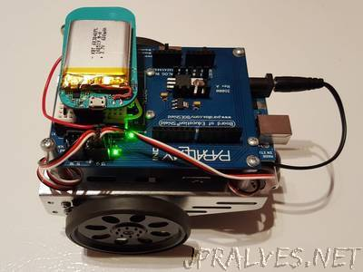 Web controlled BoE-Shield Robot with the LightBlue Bean