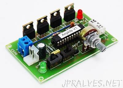 DC Motor & Direction Controller with Brake using MC33035