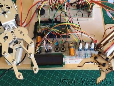 Local and Remote Programmable Robotic Arm