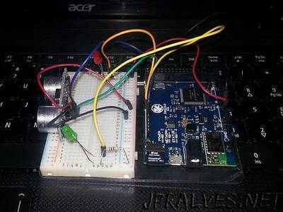 Esquilo Air & HC-SR04 Ultrasonic Sensor Tutorial