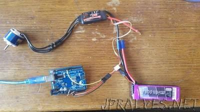Programming Brushless Motor ESC without RF transmitter