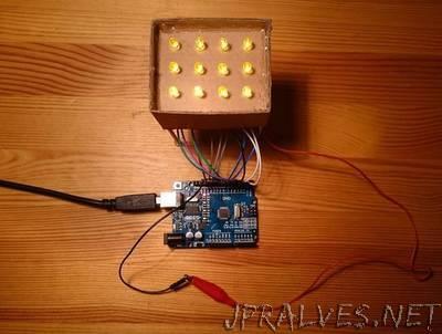 Simple DIY 3x4 LED display for Arduino MEGA / Uno / Nano