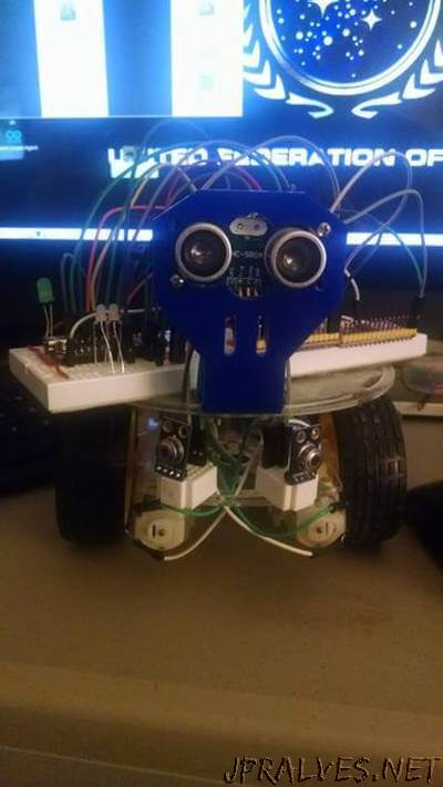 Snake Vision Robot using two MLX90614 No Contact Temperature Modules