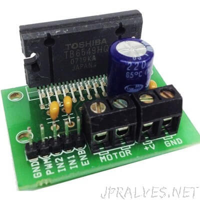 4.5A H-Bridge DC Motor Driver Module Using TB6549HQ