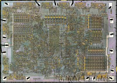 Die photos and analysis of the revolutionary 8008 microprocessor, 45 years old