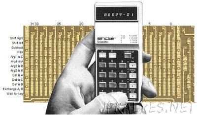 Reversing Sinclair's amazing 1974 calculator hack - half the ROM of the HP-35