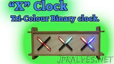 XCLOCK (Tri-Colour Binary Clock)