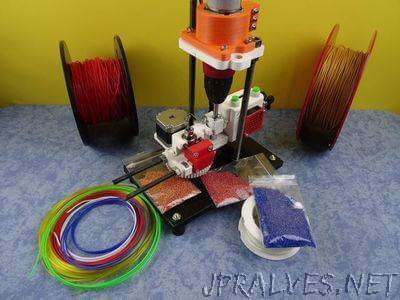 3D Printed Open Source Multi Material Cutter&Pelletizer : SHRED-Buddy3D
