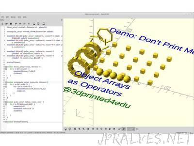 OpenSCAD - Array Utility - jpralves net
