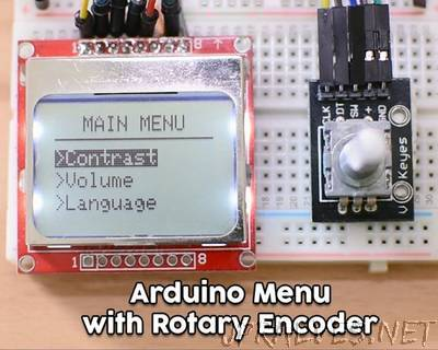Arduino Menu on a Nokia 5110 Lcd Using a Rotary Encoder