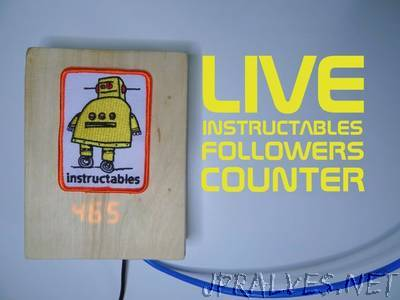 Live Instructables Followers Counter