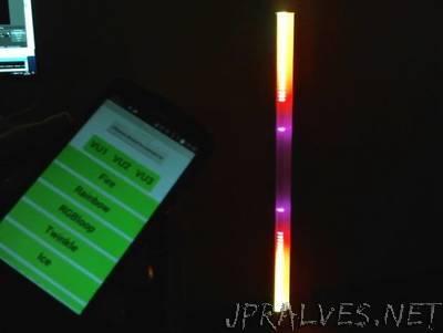 120cm Neopixel LED Bar - 3x VU Meter + Other Light Effects