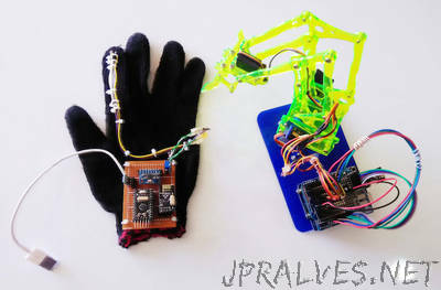 Hand Gesture Controlled Robotic Arm with Arduino