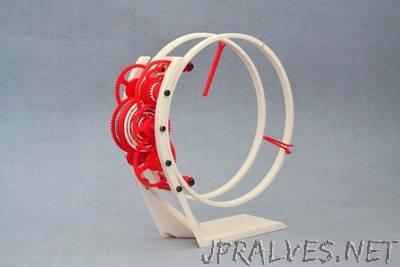 TORLO - a 3d printed electromechanical clock