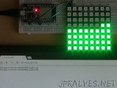 ESP and WS2812 8x8 LED Matrix