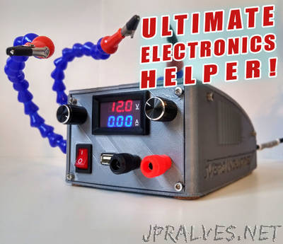 Ultimate Electronics Helper || Variable Bench Top PSU With Helping Hands