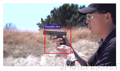 A new artificial intelligence based system warns when a gun appears in a video