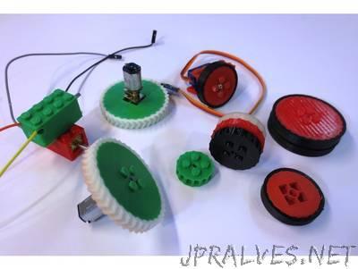 Parametric Lego Robot Wheels