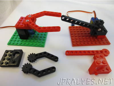 Parametric Servo Gripper Lego Brick Set