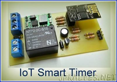 ESP8266-01 IoT Smart Timer for Home Automation