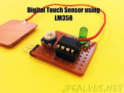 Digital Touch Sensor Using LM358