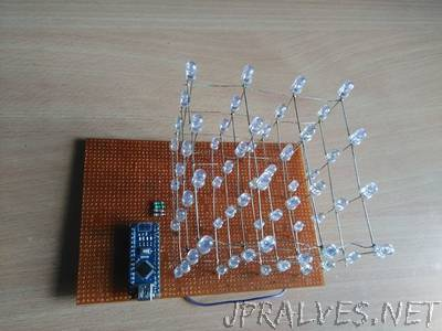 4x4 Led Cube Full