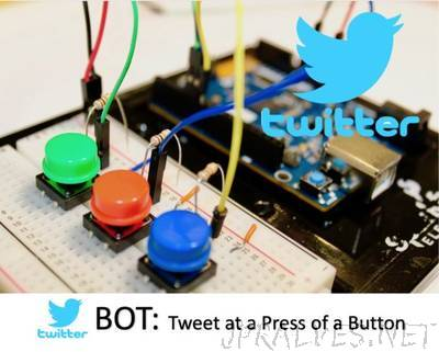 Make a Twitter Bot App: Tweet at a Press of a Button - Arduino 101 BLE