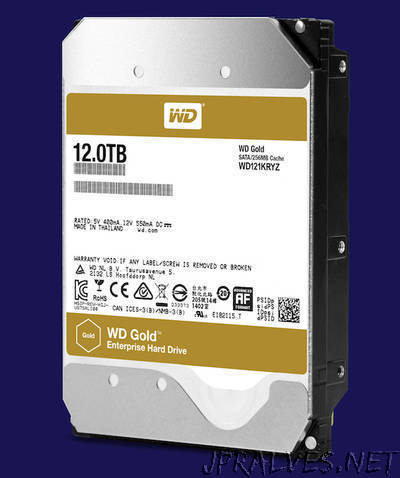 Western Digital Ships 12TB WD Gold Hard Drives To Meet Growing Capacity Requirements Of Big Data Applications
