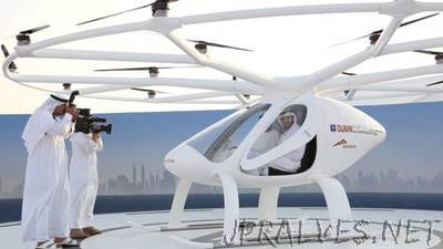 Dubai tests drone taxi service