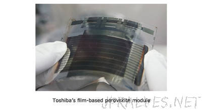 Toshiba Achieves World's Highest Conversion Efficiency in 5 cm X 5 cm Film-based Perovskite Solar Cell Mini-modules