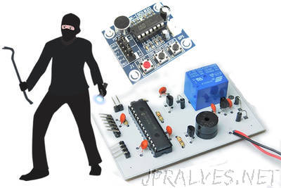 Make a Talking Security Alarm with a PIC16 and ISD1820