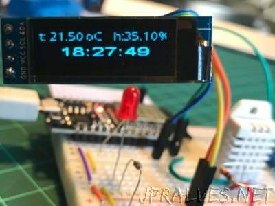 ESP32 and OLED Display: Internet Clock - DHT22