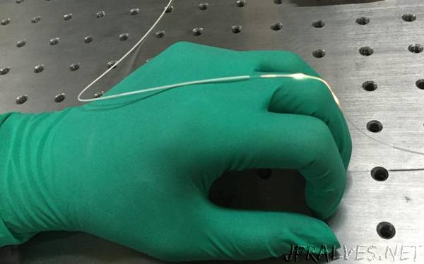In a first for wearable optics, researchers develop stretchy fiber to capture body motion