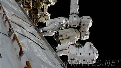 Spacewalkers Wrap Up Robotic Arm Work