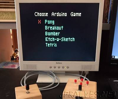 Arduino VGA Console With Five Games