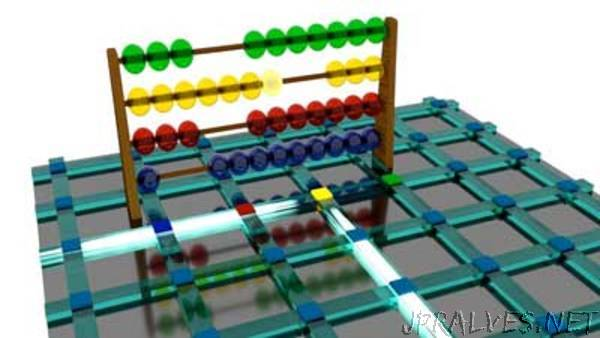 Nanoscale 'abacus' uses pulses of light instead of wooden beads to perform calculations