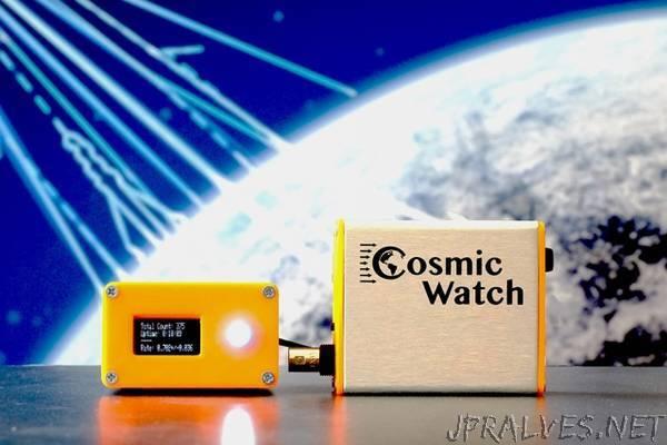 Physicists design $100 handheld muon detector
